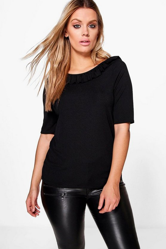 Plus Fifi Ribbed Strappy Top