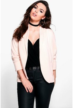 Plus Cate Relaxed Pocket Blazer