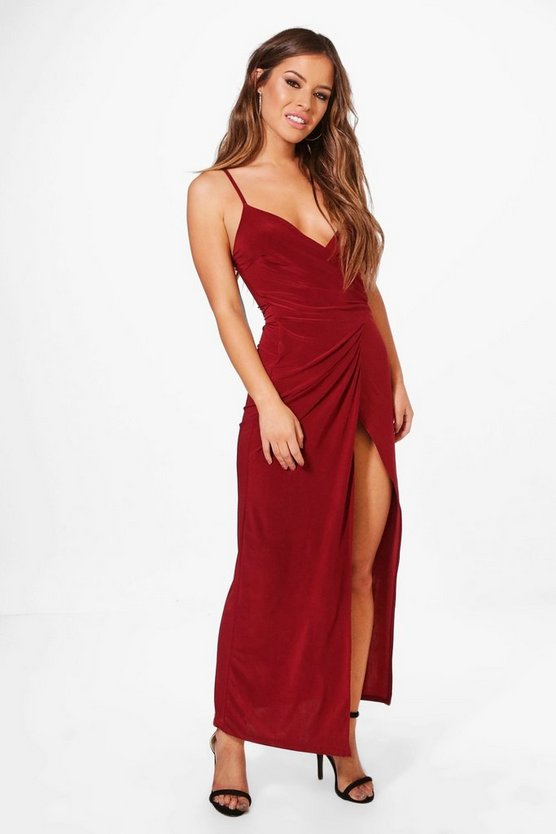 Petite Juliette Wrap Strappy Maxi Dress