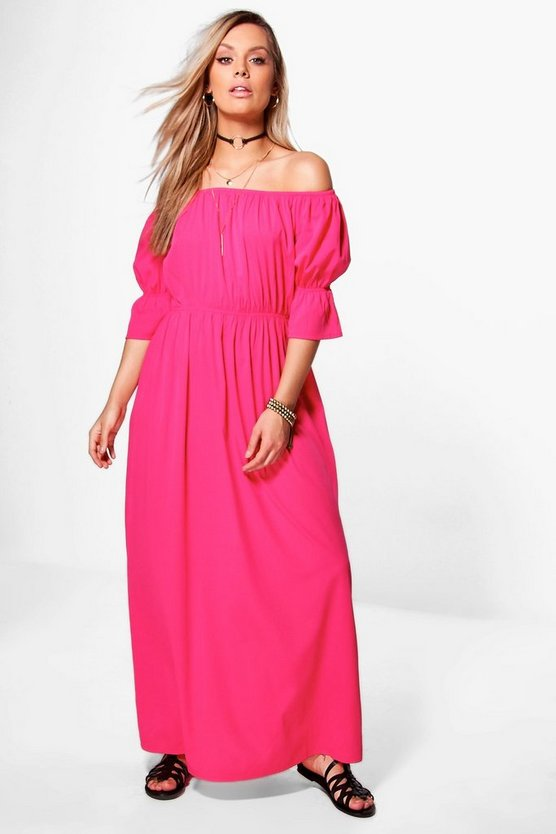 Plus Annie Off The Shoulder Woven Maxi Dress