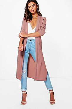 Petite Laura Half Sleeve Turn Up Cuff Duster