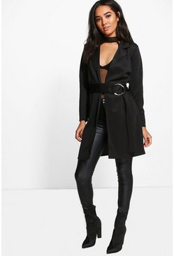 Petite Isobel O Ring Belted Duster