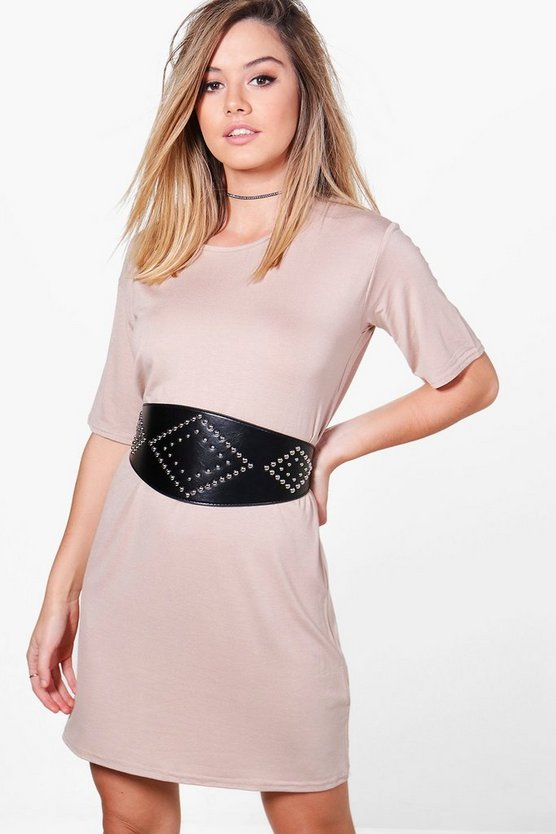 Petite Lottie Belted T-Shirt Dress