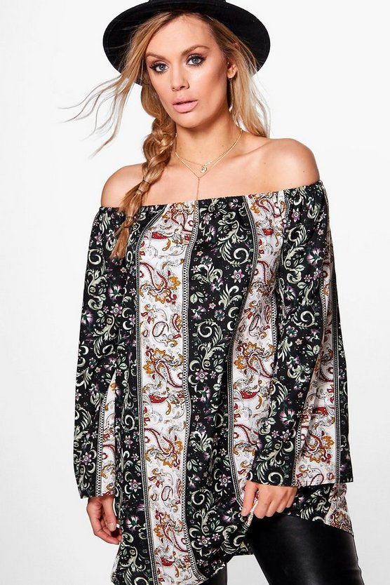 Plus Imogen Western Off The Shoulder Top