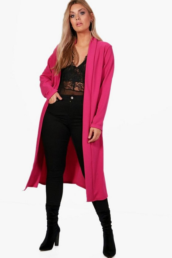 Plus Bella Waterfall Duster Coat
