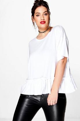 Plus Savannah Frill Hem Tee