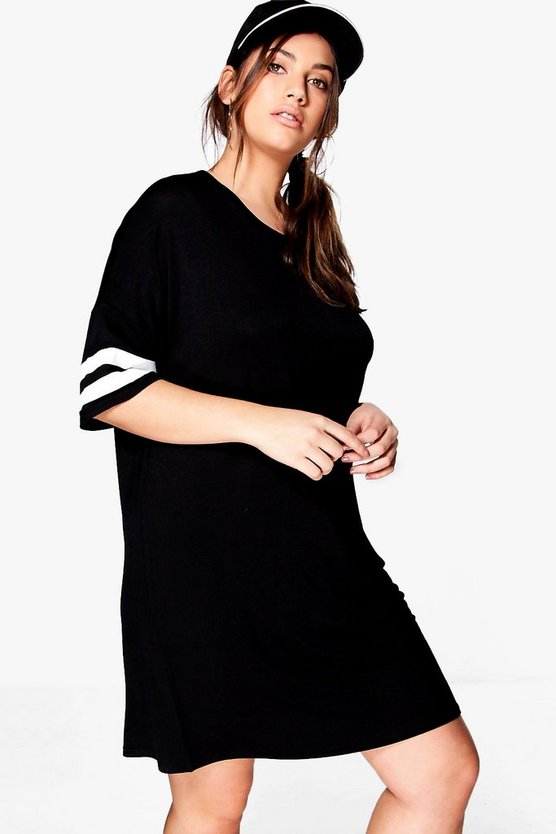 Plus Charlotte Oversized Baseball T-shirt Dress