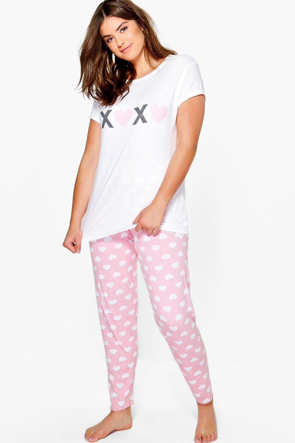 Plus Rebecca XOXO Printed PJ Set