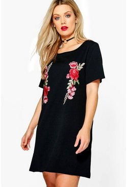 Plus Alexis Embroidered Shift Dress