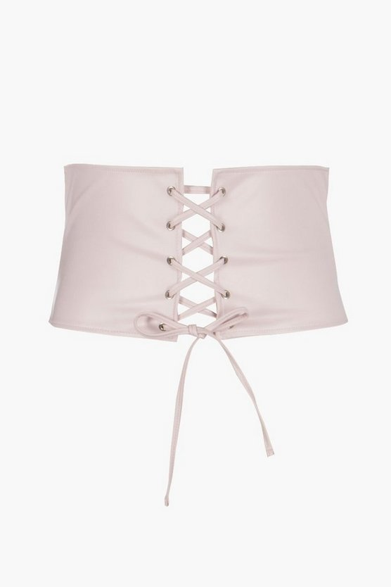 Plus Kayla Lace Up Corset Belt