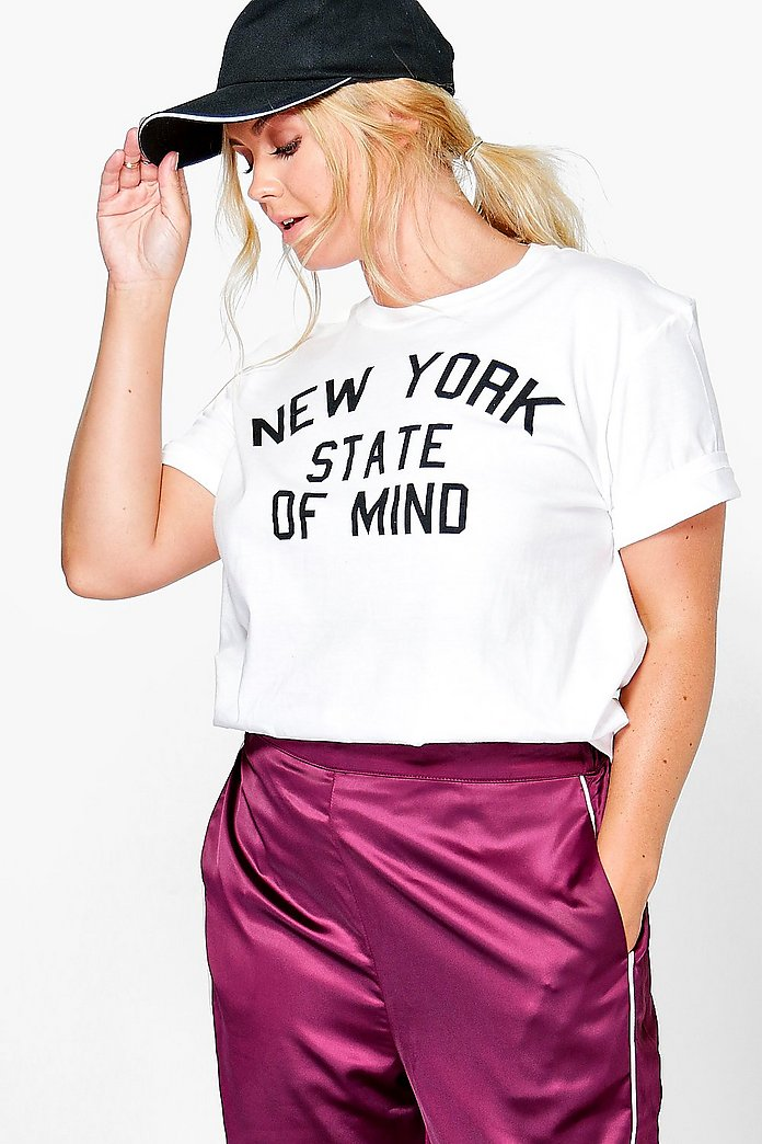 Plus Sasha New York Slogan Tee