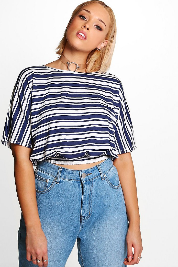 Plus Lauren Wide Sleeve Stripe Top