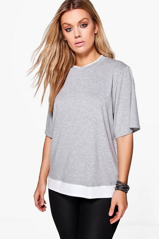 Plus Imogen Double Layer T-shirt
