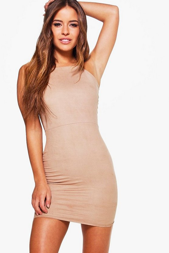 Petite Fran Suedette Bodycon Dress
