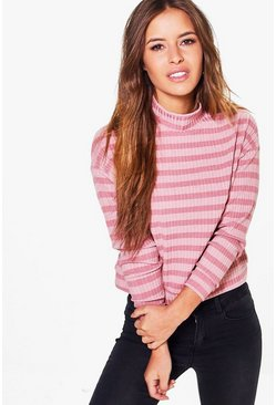 Petite Nancy Slouchy Rib Knit Jumper
