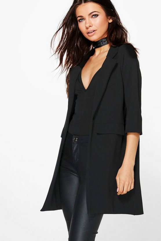 Petite Pocket Turn Up Boyfriend Blazer