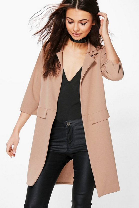 Petite Liz Pocket Turn Up Boyfriend Blazer