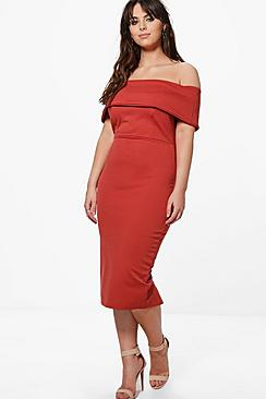 Plus Millie Double Layer Midi Dress