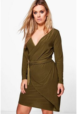 Plus Georgina O-Ring Wrap Dress