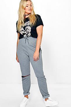 Plus Una Slit Knee Jogger