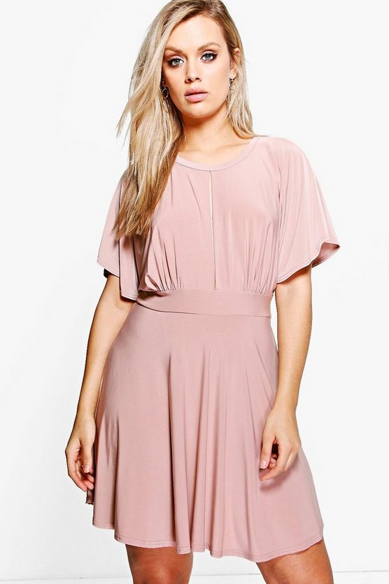 Plus Sasha Slinky Batwing Skater Dress