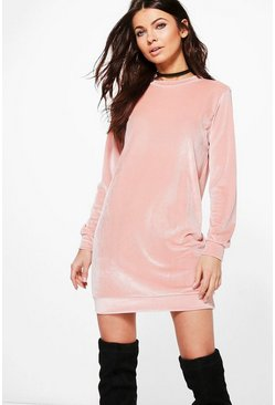 Petite Shauna Velvet Jumper Dress