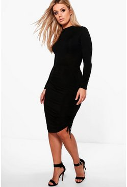 Plus Linda Ruched Slinky Skirt