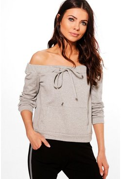 Petite Bella Off The Shoulder Sweat