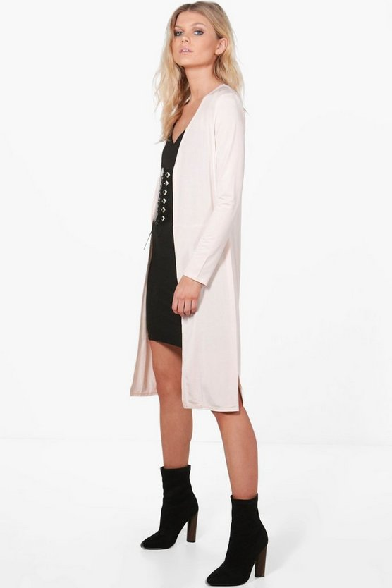 Petite Tasha Collarless Split Side Duster