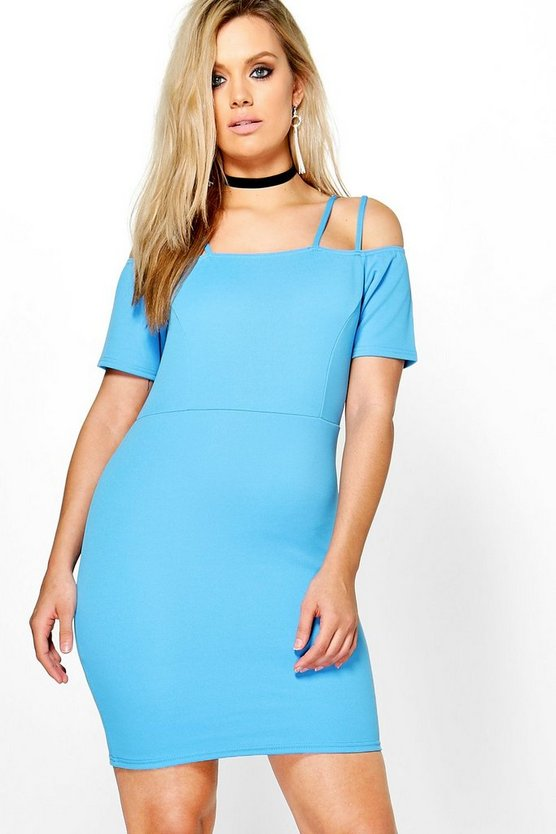 Plus Sara Strappy Shoulder Midi Dress