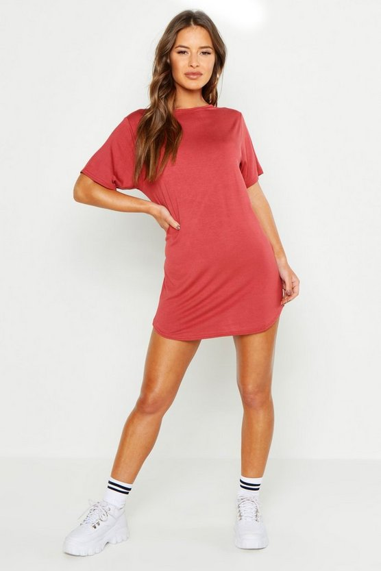 Petite Amy Curved Hem T-shirt Dress