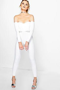 Petite Millie Double Layer Skinny Leg Jumpsuit