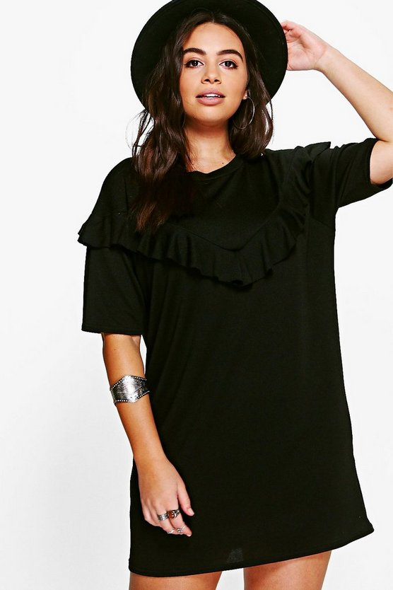 Plus Darcy Ruffle Detail Shift Dress