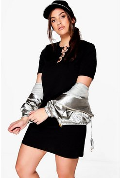 Plus Olivia Ring Detail Shift Dress