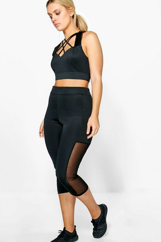Plus Jenni Mesh Insert Running Legging
