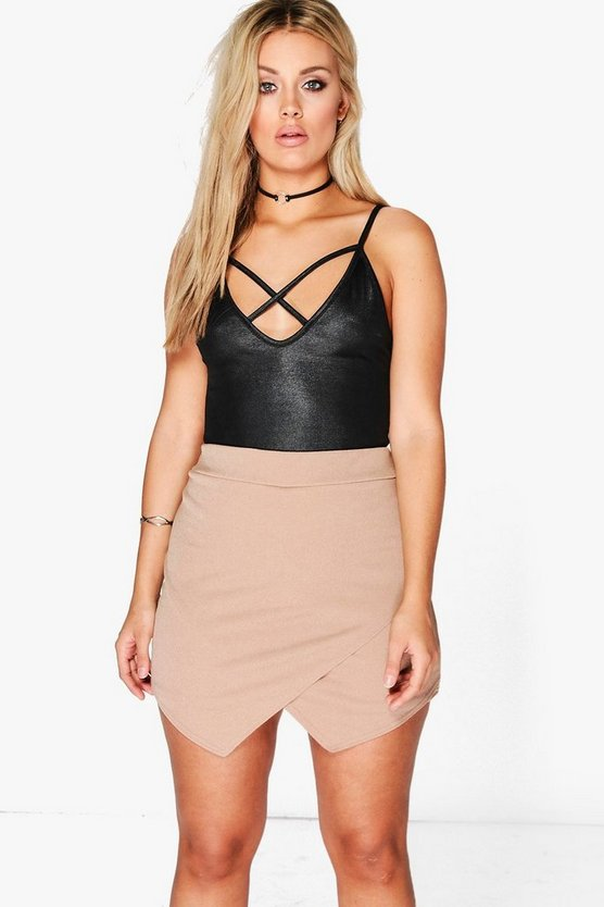 Plus Megan Asymmetric Wrap Skort