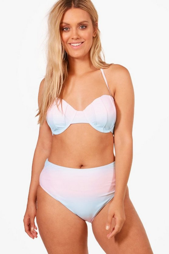 Plus Lauren Shell Top High Waist Bikini