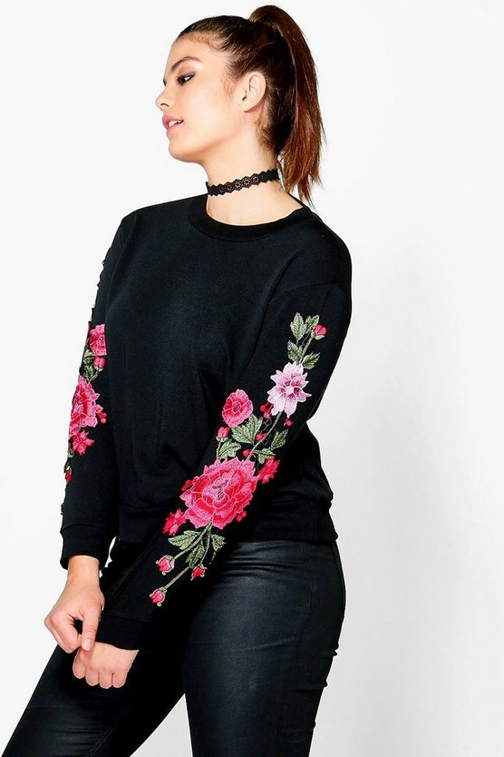 Plus Anya Applique Sweatshirt