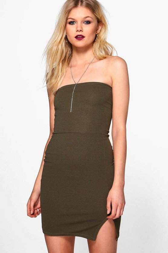 Petite Natasha Bandeau Bodycon Dress