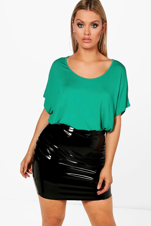 Womens Plus Übergroßes T-Shirt - blattgrün - 46, Blattgrün - Boohoo.com