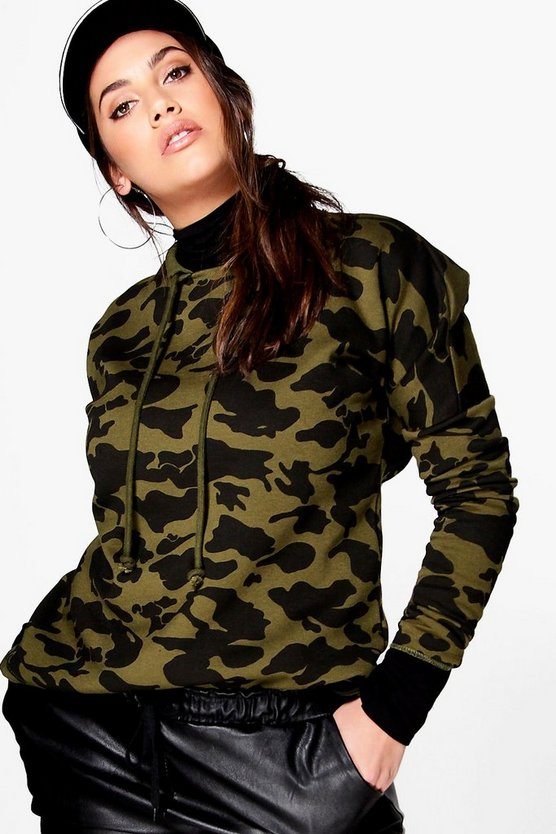 Plus Nicole Camo Printed Sweat