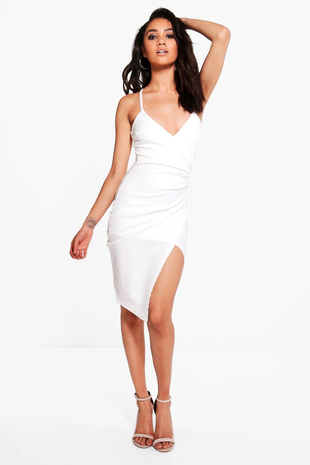 Petite Kara Strappy Wrap Asymmetric Dress