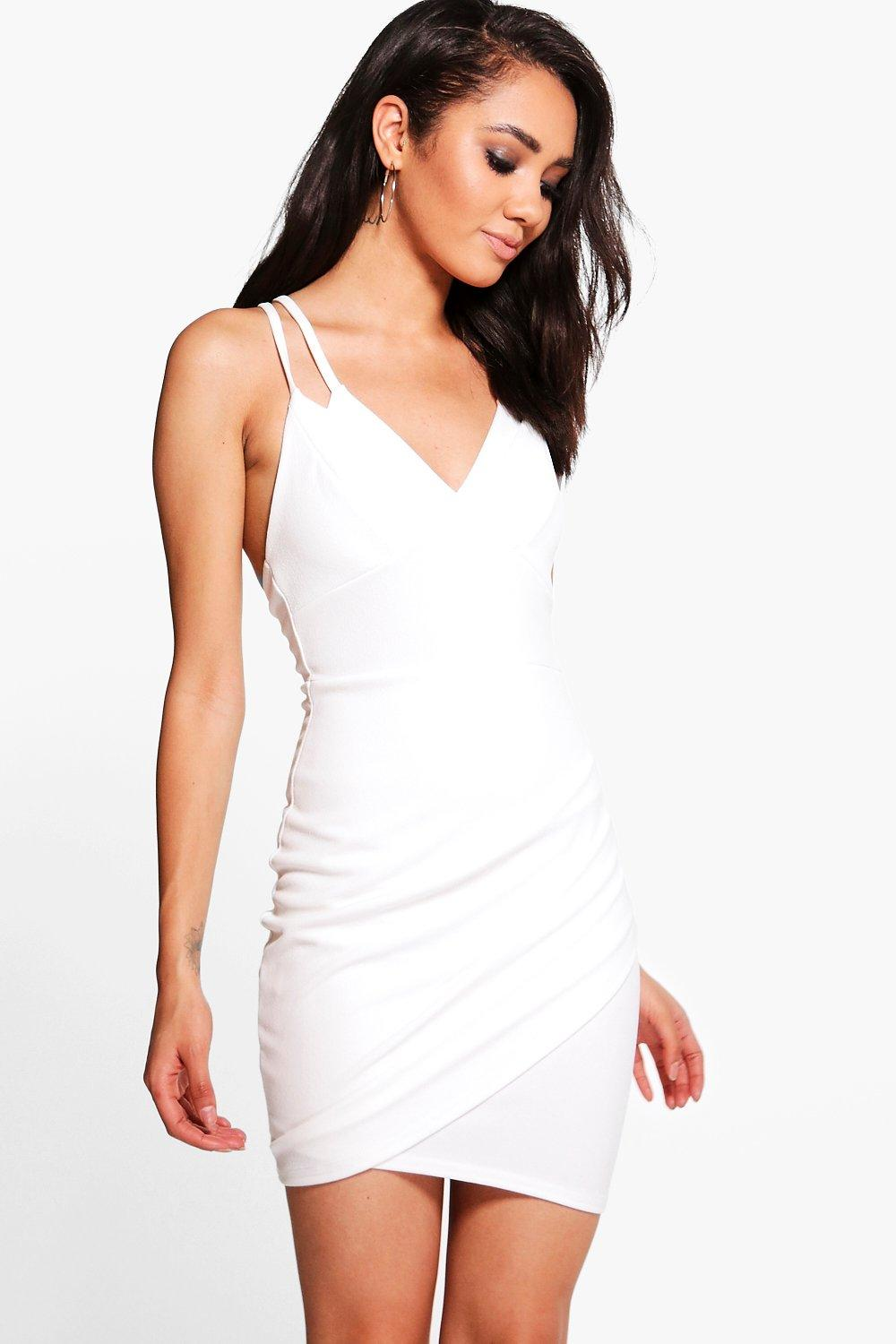 Petite Hope Double Strap Asymmetric Bodycon Dress