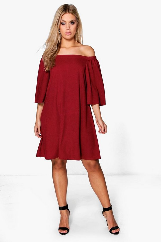 Plus Maya Off The Shoulder Swing Dress