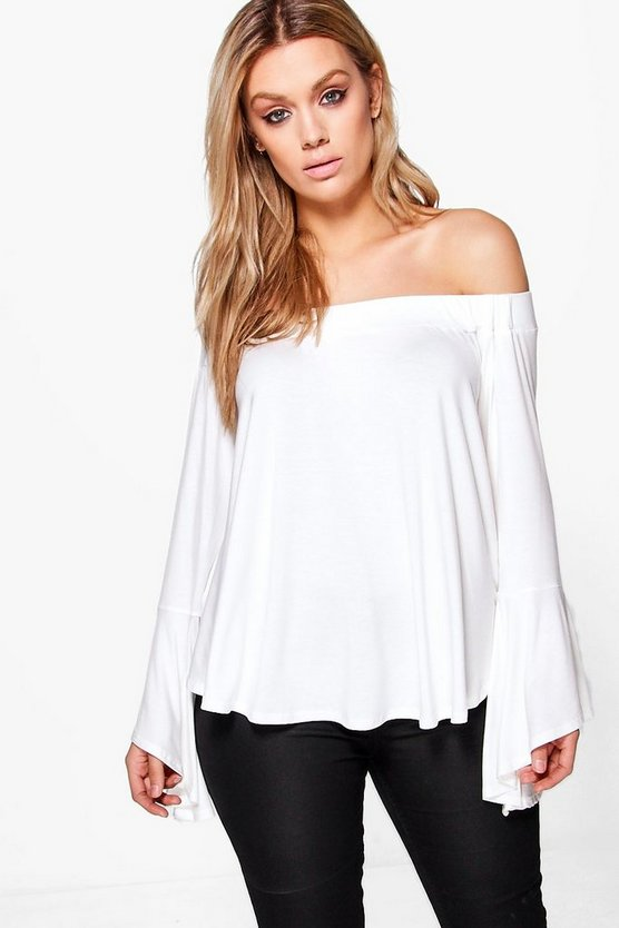 Plus Heidi Off The Shoulder Dip Back Top