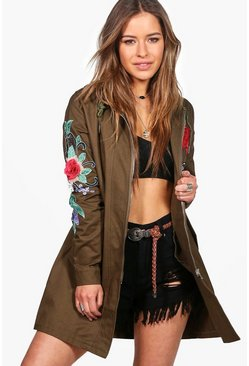 Petite Sally Oversized Badge Parka