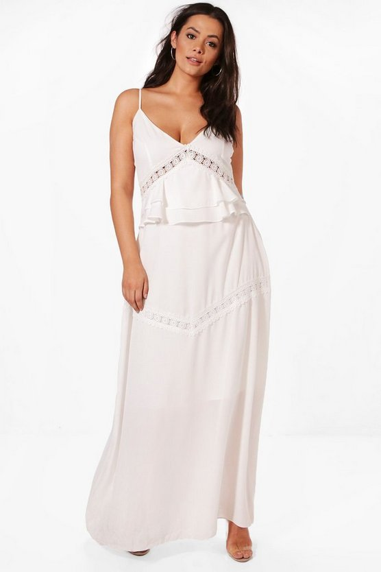 Plus Haylie Trim and Ruffle Detail Maxi Dress