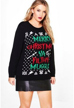 Plus Carey 'Merry Xmas Ya Flithy Muggle' Jumper