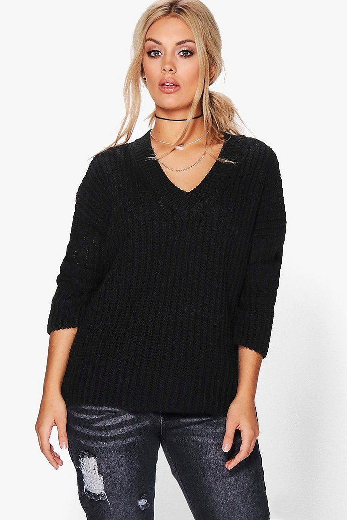 Plus Jenny V Neck Oversize Tunic