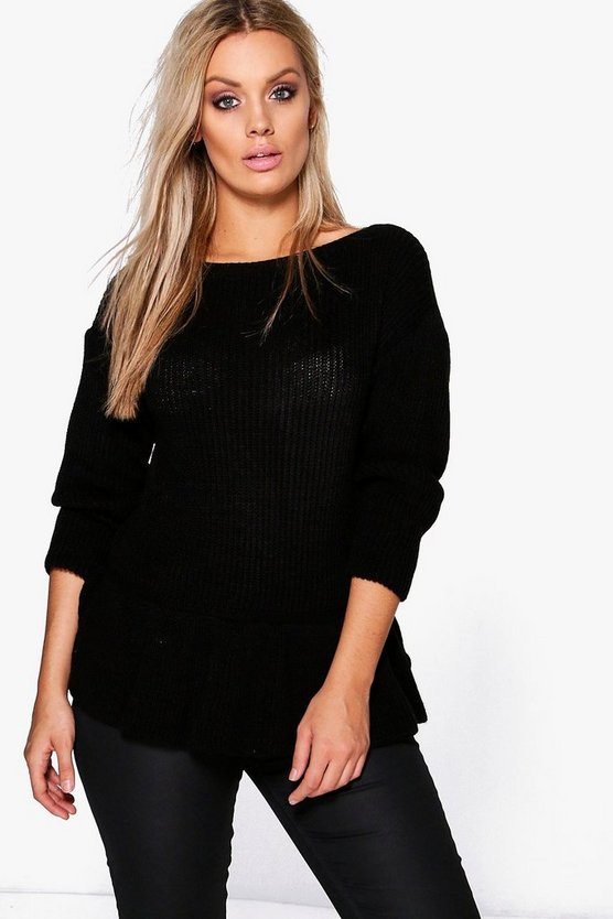 Plus Laurie Frill Hem Jumper